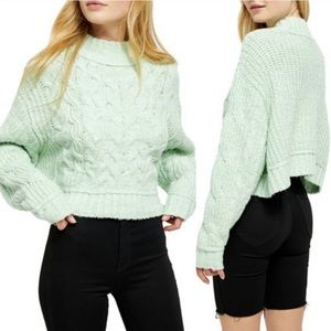 NEW Free People Carousel knit Sweater L